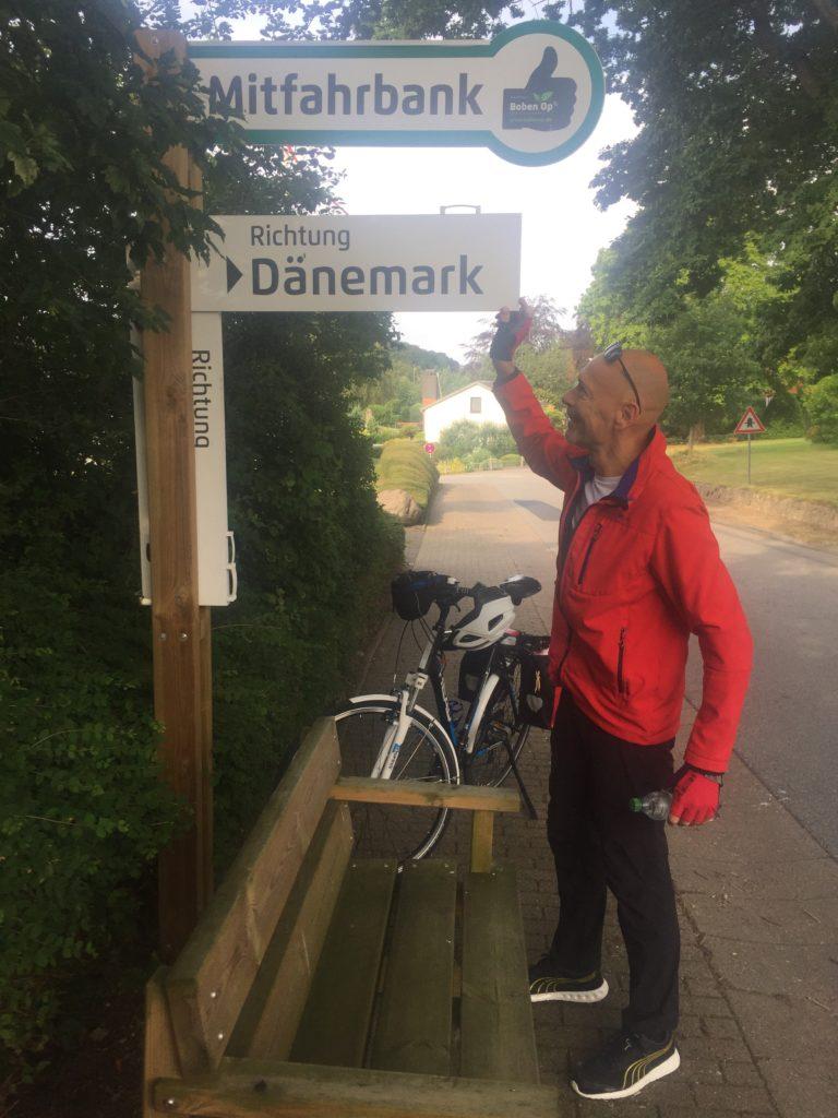 Mitfahrbank von Flensburg nach Dänemark
